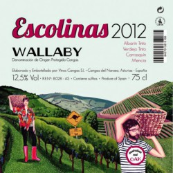 Vino tinto Escolinas Wallaby 2012